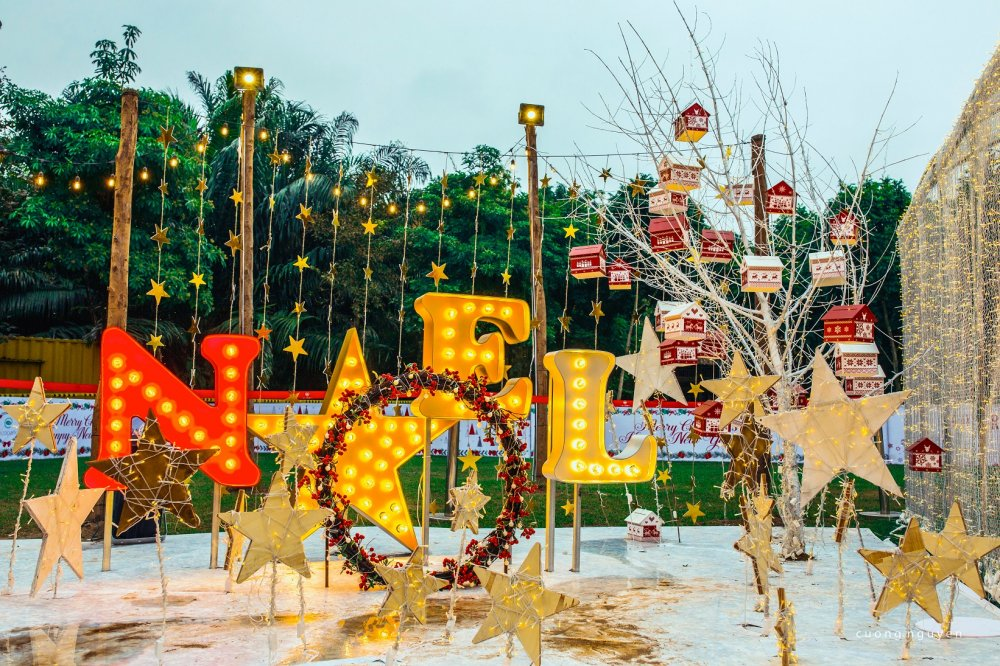 Den Ecopark don Giang sinh dam chat Bac Au cung ong gia Noel lon nhat Viet Nam hinh anh 5