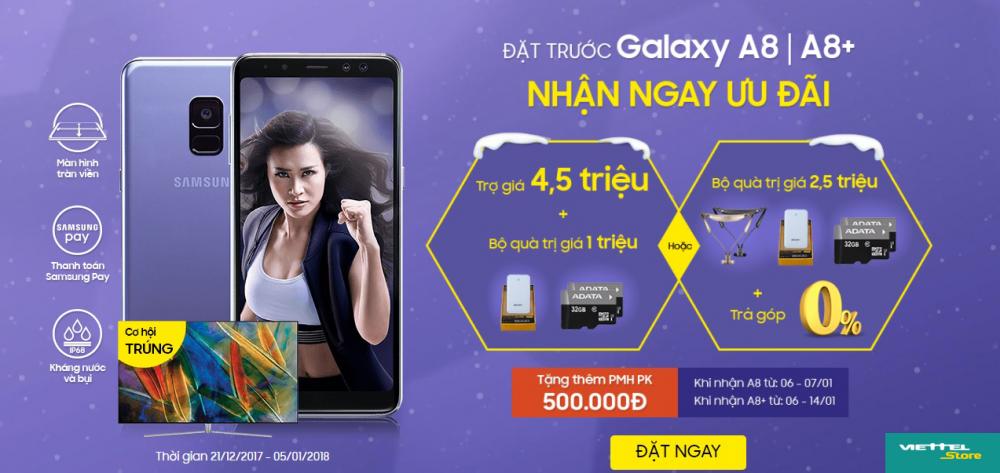 Galaxy A8/A8+ 2018 lap doanh thu khung ngay trong ngay dau mo ban hinh anh 1