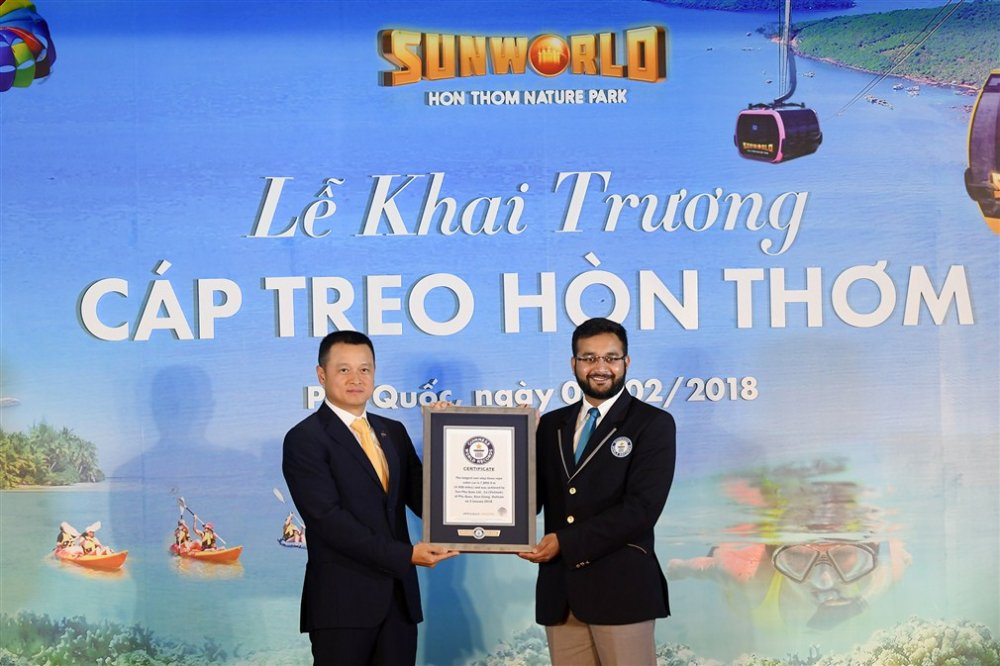 Phu Quoc khai truong cap treo Hon Thom dai nhat the gioi hinh anh 2