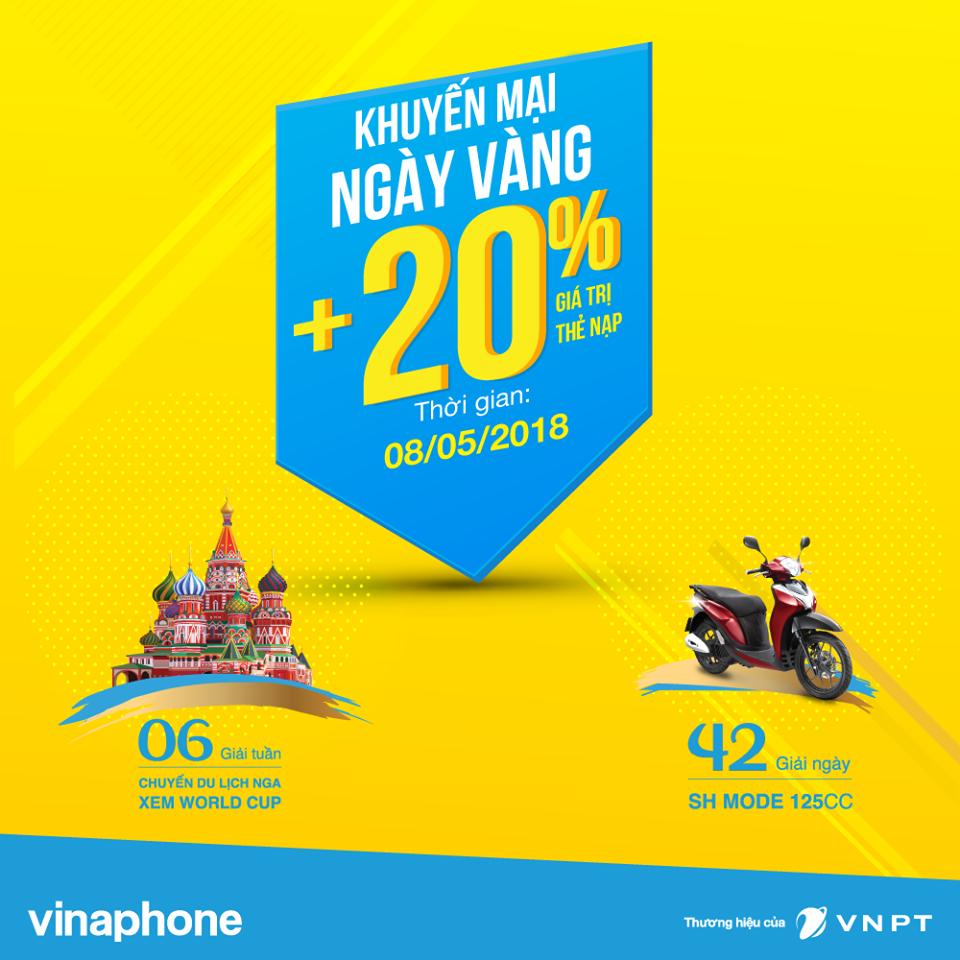 VinaPhone tang 20% vao tai khoan khuyen mai su dung cac mang trong nuoc hinh anh 1