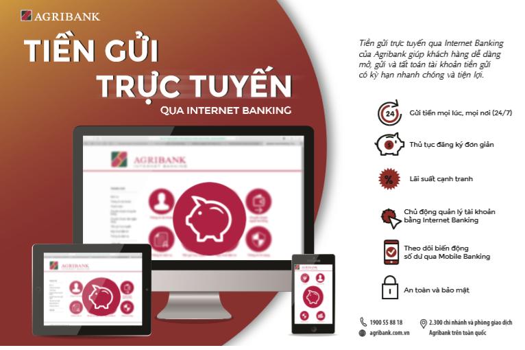 Agribank trien khai dich vu Tien gui truc tuyen (24/7) tren Internet Banking hinh anh 1