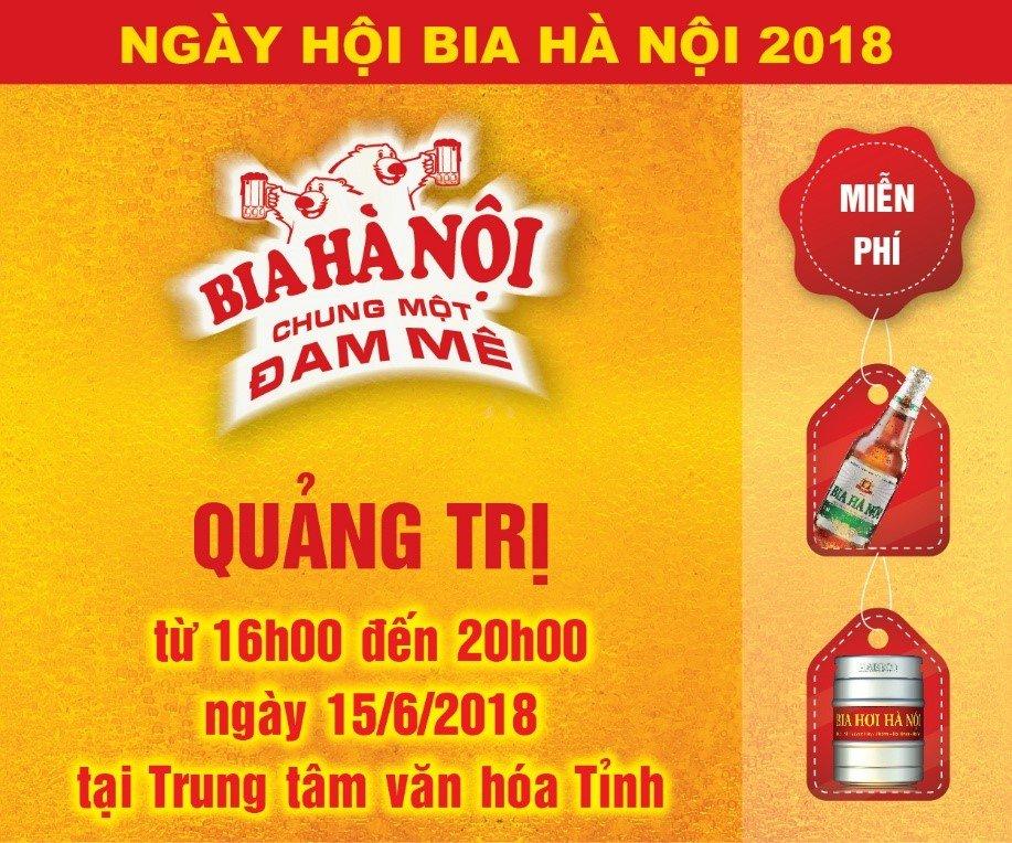 'Chay ve' vao cong Ngay hoi Bia Ha Noi tai Quang Tri hinh anh 1