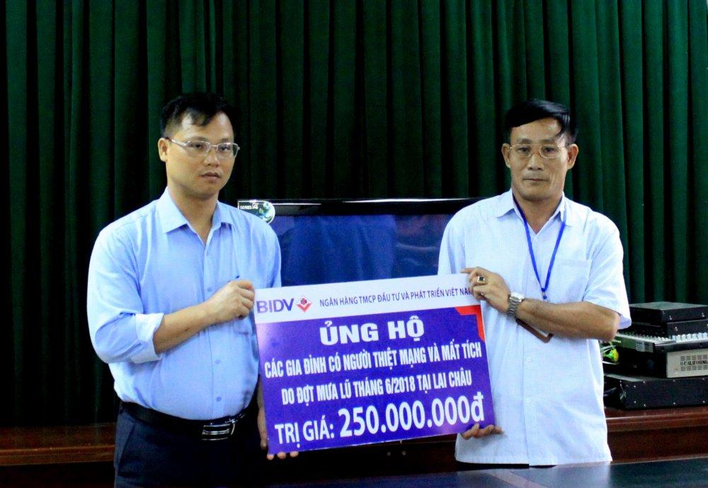 BIDV danh hon 300 trieu dong ho tro gia dinh cac nan nhan bi lu quet tai Lai Chau, Ha Giang hinh anh 1