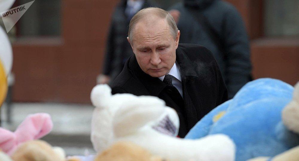 Tong thong Putin tuyen bo quoc tang tuong nho nan nhan vu chay trung tam thuong mai hinh anh 1