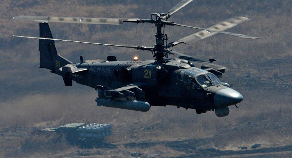 Sieu truc thang ''ca sau'' Ka-52 cua Nga roi tai Syria, 2 phi cong thiet mang hinh anh 1