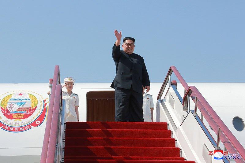 Anh hiem ve chuyen tham Trung Quoc cua ong Kim Jong-un hinh anh 1