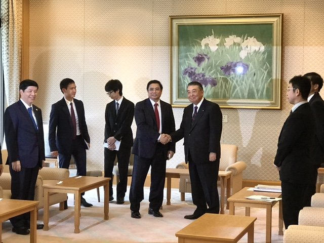 Thu tuong Nhat Ban Shinzo Abe hoi kien voi ong Pham Minh Chinh hinh anh 2