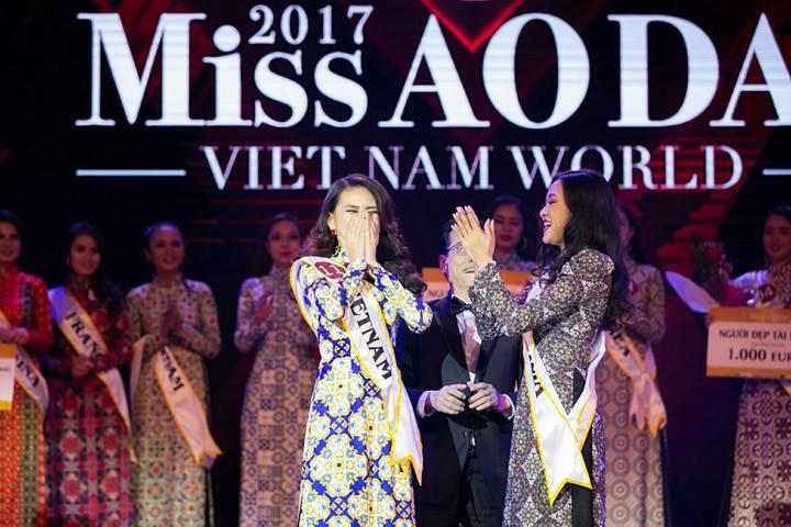 Bui Quynh Hoa dang quang 'Miss Ao dai Viet Nam World 2017' hinh anh 1
