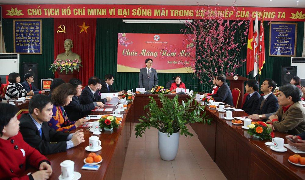 Pho Thu tuong Vu Duc Dam tham Tong hoi Y hoc, Hoi Chu thap do nhan ngay 27/2 hinh anh 1