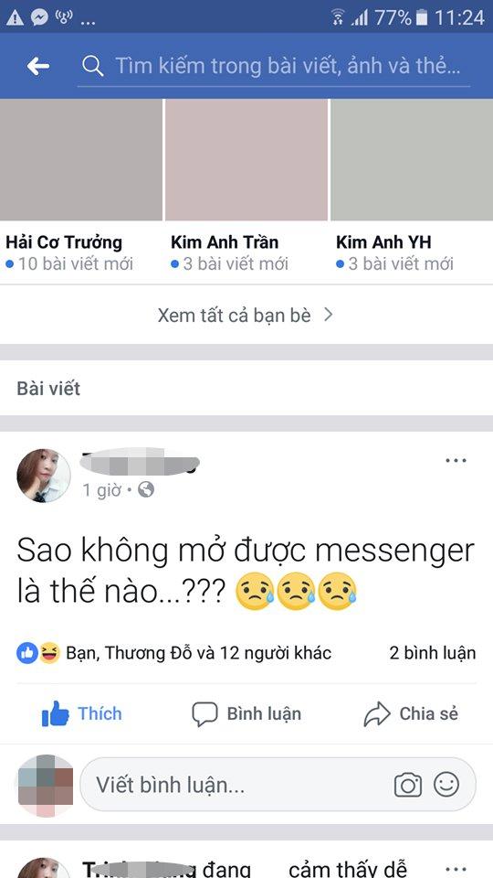 Messenger Facebook tren PC lai mac loi khong hien thi cua so chat hinh anh 1