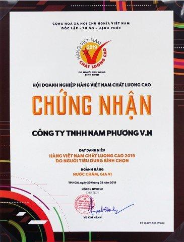 Nam Phuong Food vinh du nhan danh hieu Hang Viet Nam chat luong cao 2019 hinh anh 4