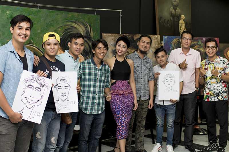 Sao Viet thich thu voi tranh hi hoa Tong thong Obama, ca si Dam Vinh Hung hinh anh 1
