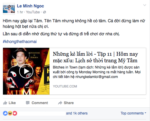 Nam VJ 'Nhung ke lam loi' bi 'nem da' vi che My Tam mac xau, di tre gio hinh anh 2