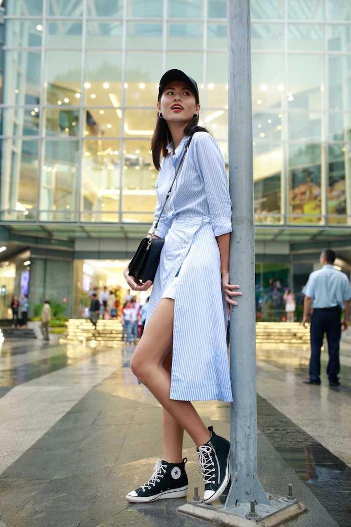 Lan Khue khoe street style cuc 'chat' o dia diem 'hot' nhat Sai Thanh hinh anh 10