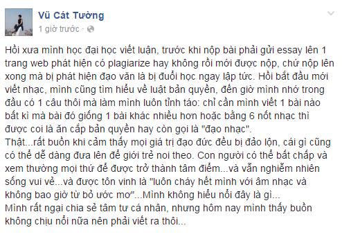Chi trich Son Tung M-TP, Vu Cat Tuong lien tuc bi boc me dao nhac hinh anh 1