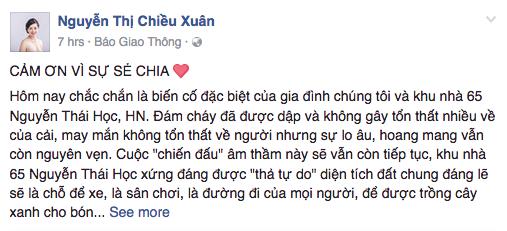 NSUT Chieu Xuan suyt gap nguy hiem vi lieu minh lao vao dam chay hinh anh 1
