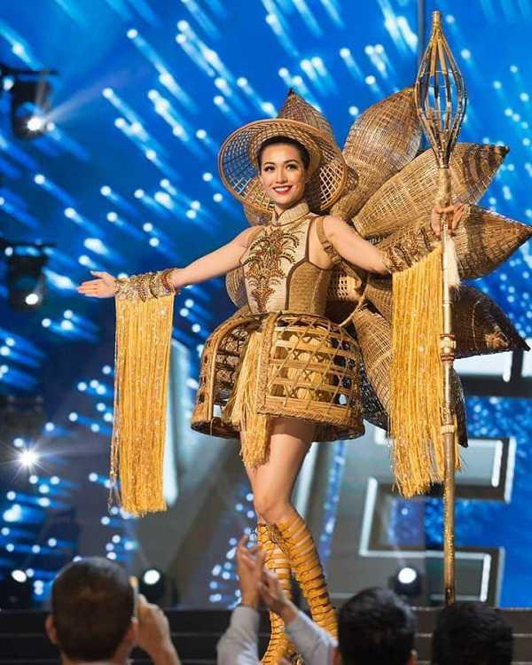 Quoc phuc cua Le Hang xep hang 4 tai Miss Universe 2016 hinh anh 1