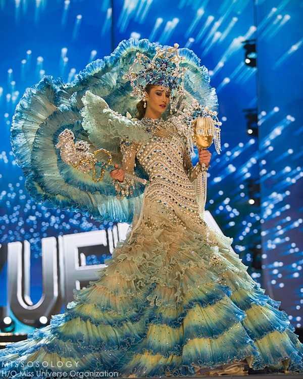 Quoc phuc cua Le Hang xep hang 4 tai Miss Universe 2016 hinh anh 3