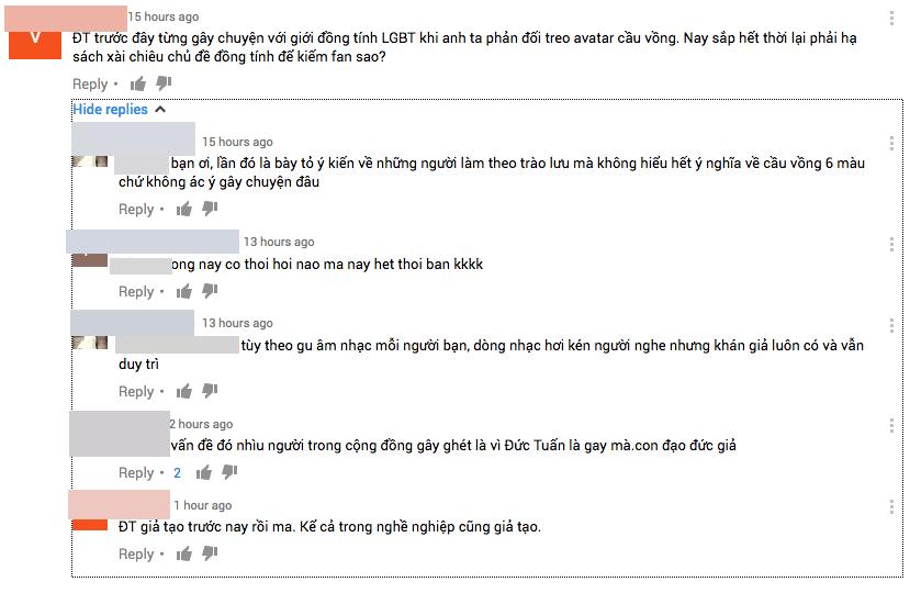MV dong tinh cua Duc Tuan bi cong dong LGBT phan ung du doi hinh anh 3