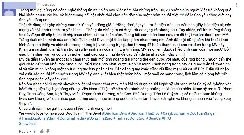 MV dong tinh cua Duc Tuan bi cong dong LGBT phan ung du doi hinh anh 7