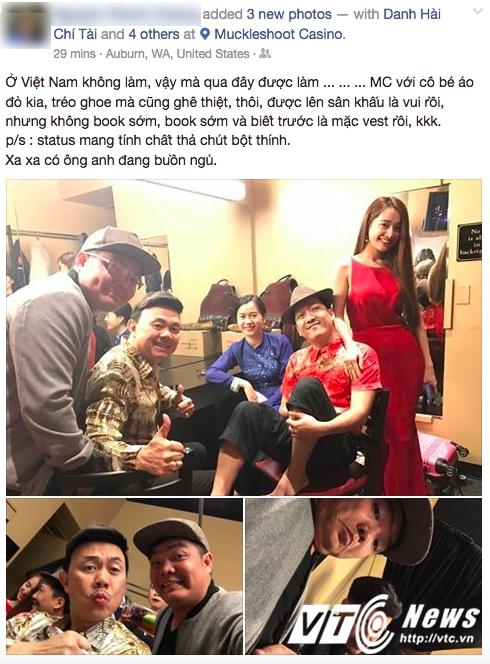 Nha Phuong dien dam do sexy, lam MC cho dem dien cua Truong Giang tai My hinh anh 1