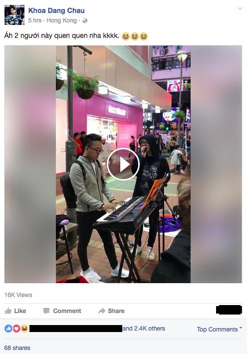 Clip: Bui Anh Tuan cover hit cua Ho Ngoc Ha tren duong pho Hong Kong gay 'sot' hinh anh 1