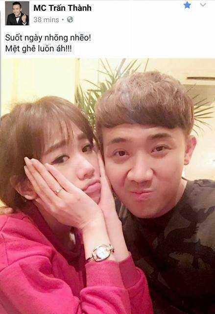 Tran Thanh met moi vi thoi nhong nheo cua Hari Won hinh anh 1