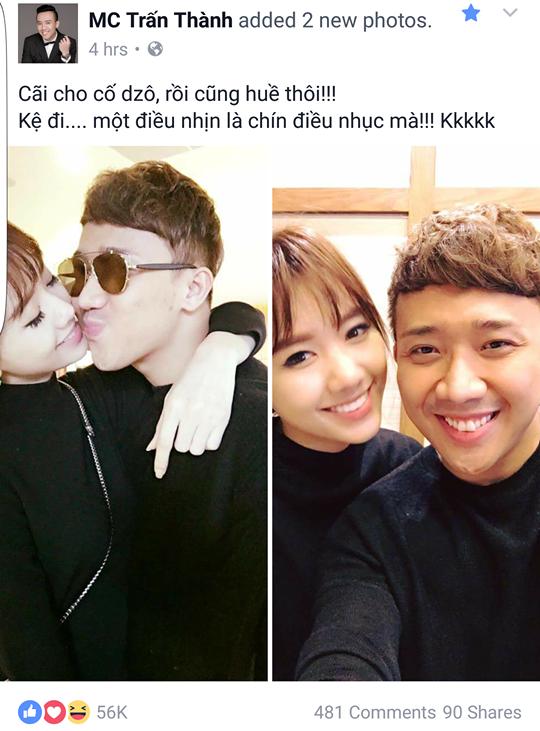 Nhung hinh anh ngot ngao cua Tran Thanh va Hari Won 3 thang sau khi cuoi hinh anh 8