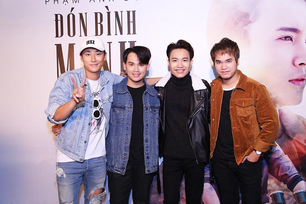 Hoa Minzy, Rocker Nguyen sanh doi den chuc mung Pham Anh Duy hinh anh 3