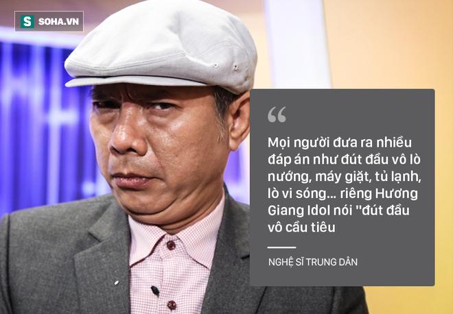 Bi Huong Giang Idol xuc pham, nghe si Trung Dan bo ngang ghi hinh gameshow hinh anh 1