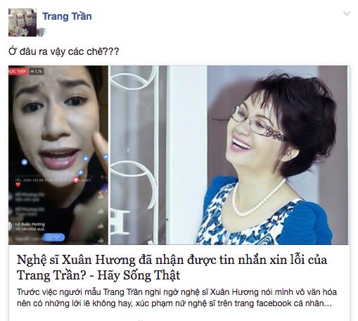 Doa danh va lien tuc thach thuc, Trang Tran bi nghe si Xuan Huong dam don kien hinh anh 1