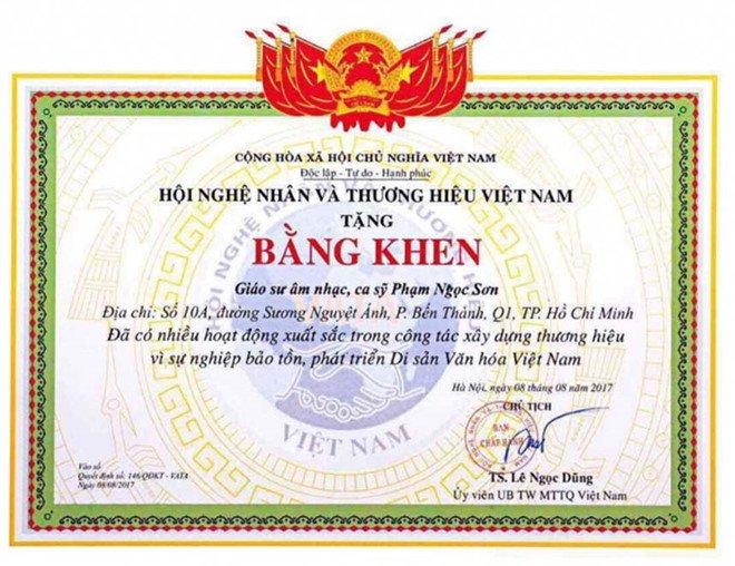 'Se thu hoi bang khen neu Ngoc Son khong chung minh duoc minh la Giao su' hinh anh 2