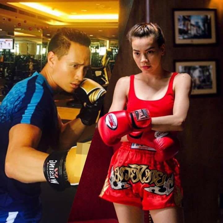 Ho Ngoc Ha chieu long Kim Ly di xem tran boxing ty USD hinh anh 4