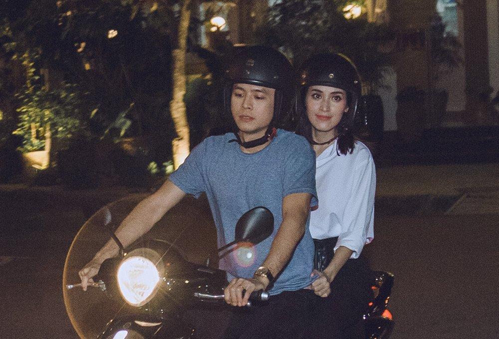 Van Anh cho Tu Vi di ghi hinh 'Chuyen toi nay voi Thanh' bang xe may hinh anh 1