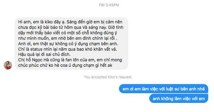 Ro ri doan hoi thoai nguoi mau xin loi Kim Ly nhung van co tinh tung tin don that thiet hinh anh 2