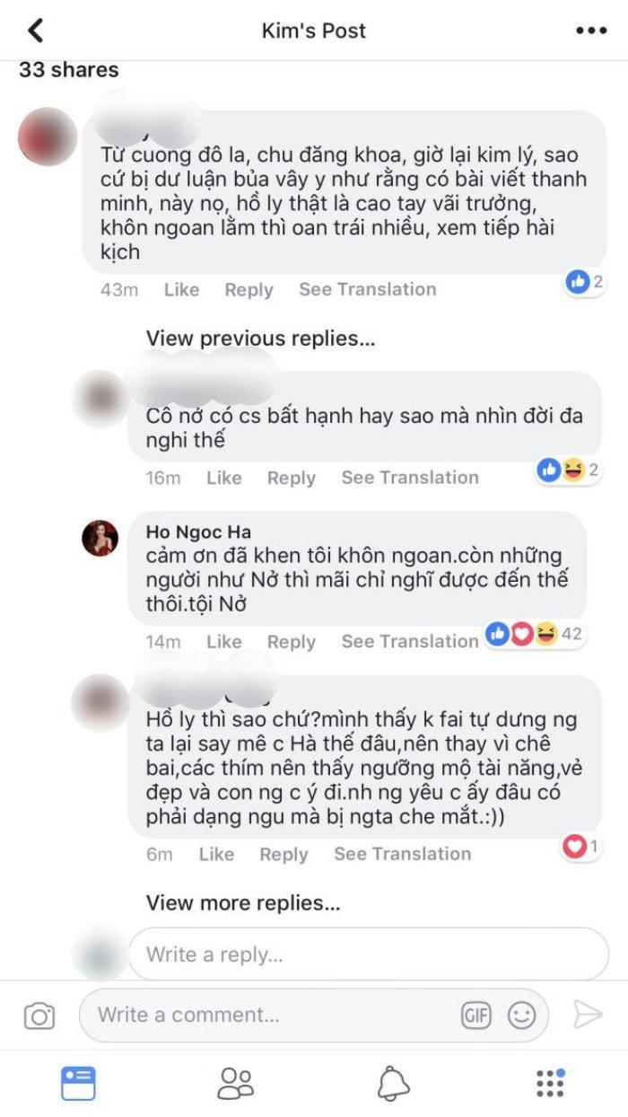 Nhung lan Ha Ho thang thung dap tra anti-fan giua lum xum tinh cam voi Kim Ly hinh anh 2