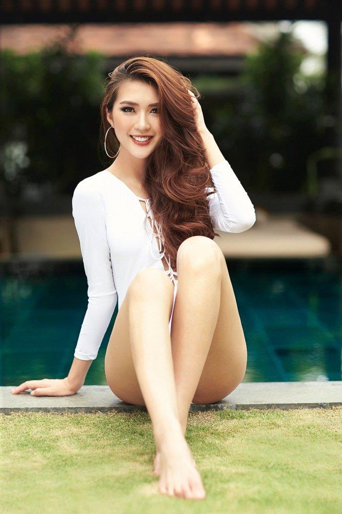 Hoa hau Tuong Linh khoe voc dang 'dong ho cat' cuc sexy voi bikini hinh anh 5