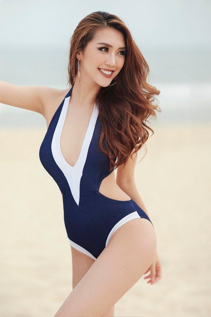 Hoa hau Tuong Linh khoe voc dang 'dong ho cat' cuc sexy voi bikini hinh anh 10