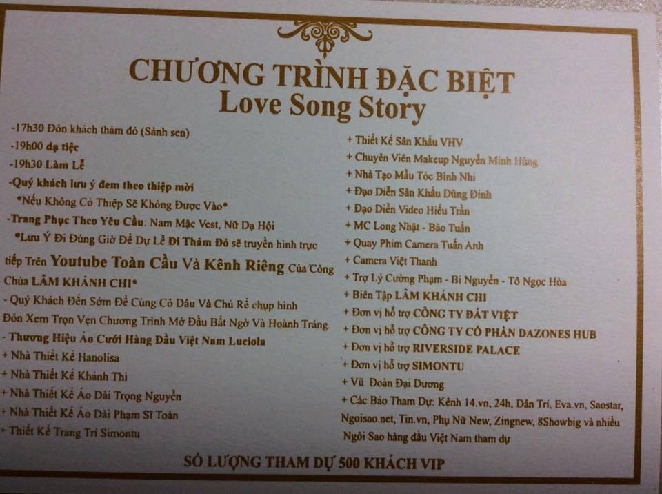 Ro ri thiep moi cuoi nhu ve moi show ca nhac hoanh trang cua Lam Khanh Chi hinh anh 2