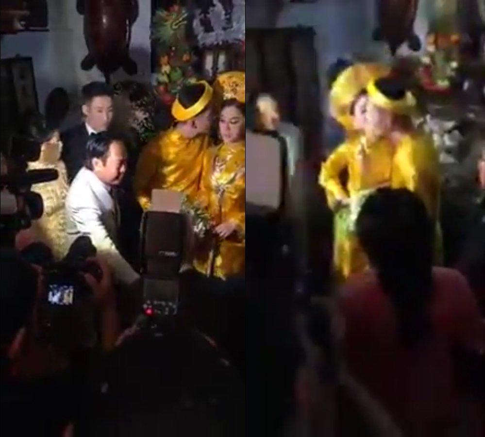 Truc tiep dam cuoi Lam Khanh Chi: Co dau deo vang day nguoi, lien tuc cham chut chu re hinh anh 17