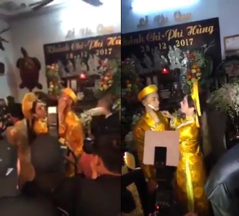 Truc tiep dam cuoi Lam Khanh Chi: Co dau deo vang day nguoi, lien tuc cham chut chu re hinh anh 16