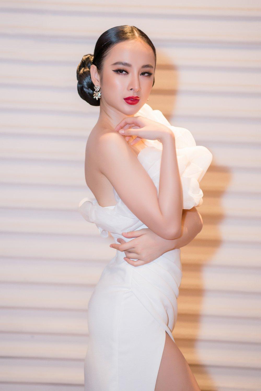 Angela Phuong Trinh lien tuc ne tranh khi cham mat tinh cu Chiem Quoc Thai hinh anh 1