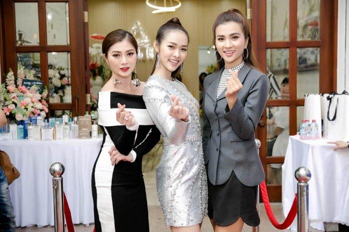 Kim Tuyen, Thanh Truc goi cam den chuc mung Diep Bao Ngoc len chuc ba chu hinh anh 4