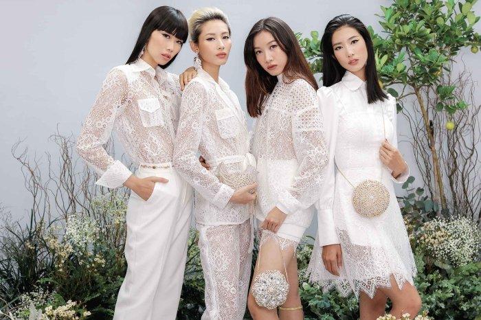 Hang Nguyen, Phan Linh Top Model do ve quyen ru trong trang phuc xuyen thau hinh anh 2