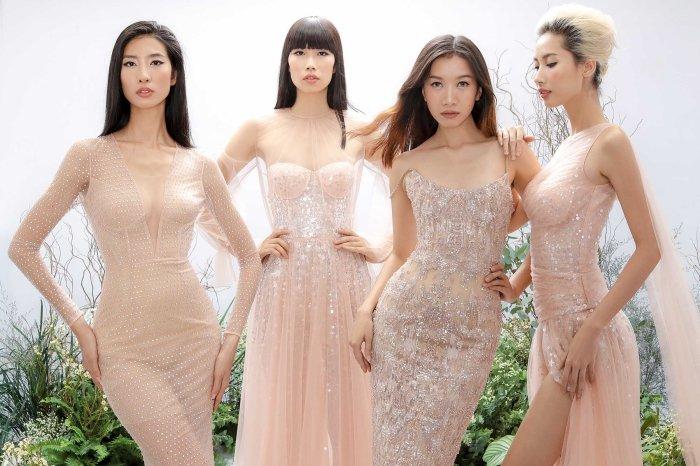 Hang Nguyen, Phan Linh Top Model do ve quyen ru trong trang phuc xuyen thau hinh anh 10