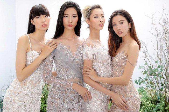 Hang Nguyen, Phan Linh Top Model do ve quyen ru trong trang phuc xuyen thau hinh anh 12