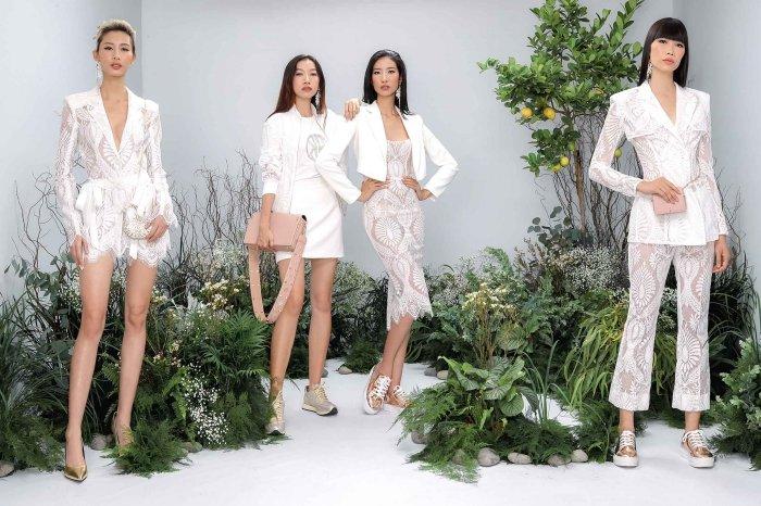 Hang Nguyen, Phan Linh Top Model do ve quyen ru trong trang phuc xuyen thau hinh anh 1