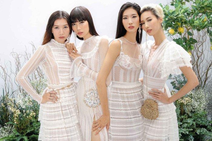 Hang Nguyen, Phan Linh Top Model do ve quyen ru trong trang phuc xuyen thau hinh anh 4