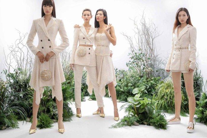 Hang Nguyen, Phan Linh Top Model do ve quyen ru trong trang phuc xuyen thau hinh anh 5