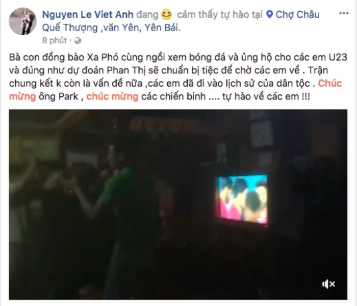 Ho Ngoc Ha, Pham Huong vo oa truoc chien thang lich su cua doi tuyen U23 Viet Nam hinh anh 14
